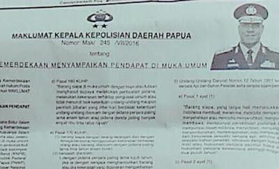 Meski Kapolda Papua Keluarkan Maklumat, Namun Demo Dukung ULMWP Tetap akan Dilaksanakan